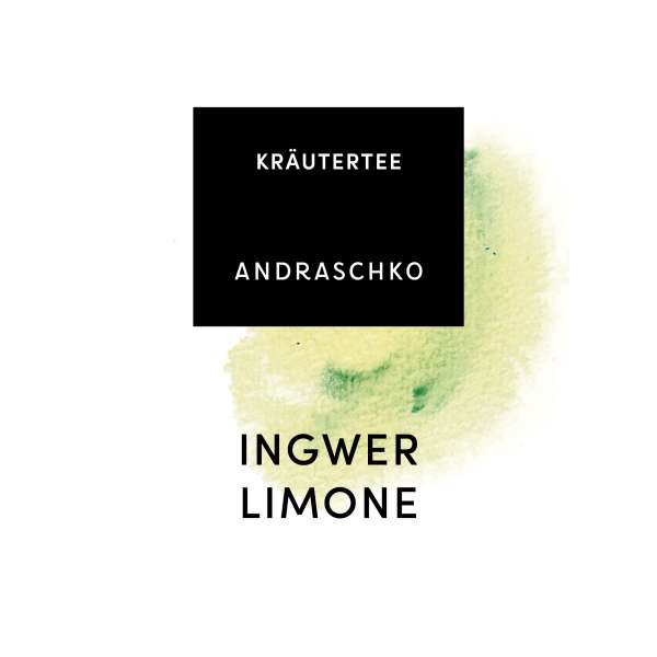 Etikett Ingwer Limone