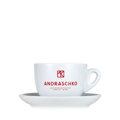 Andraschko Milk Coffee Cup with Saucer